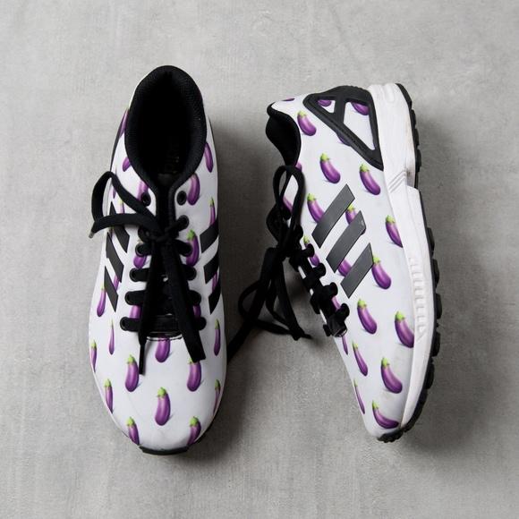 2f096620b adidas Shoes - Adidas ZX Flux Eggplant Emoji Sneaker